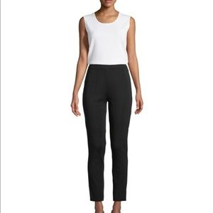 MISOOK BLACK KNIT PANTS CROPPED FLAT FRONT M